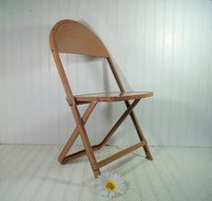 vintage child size metal folding chair retro furniture from the