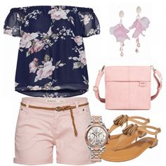 Sommer-Outfits: Rose bei FrauenOutfits.de #mode #damenmode #frauenmode #outfit #damenoutfit #frauenoutfit #fashion #fashionista #fashionidol #trend #trend2018 #modetrend #sommer2018 #summerstyle #carmenbluse #shorts #sandalen #zweibags #rosa