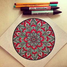 #мандала #графика #маркер #орнамент #узор #mandala #liner … | Flickr