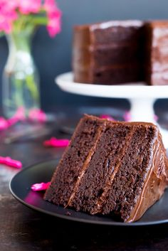 Gluten Free Three Layer Chocolate Cake! This chocolate cake is so good that no one will be able to tell that it is gluten free! It will be a big hit at any party you make it for!