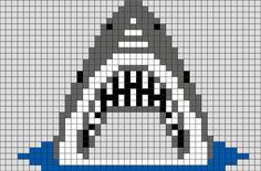 Shark Pixel Art from BrikBook.com #Shark #fish #animal #jaws #pixel #pixelart #8bit Shop more designs at http://www.brikbook.com