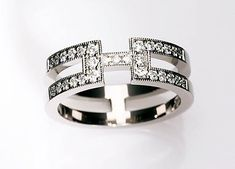 Diamond wedding band Diamond ring White gold by TorkkeliJewellery, $2490.00