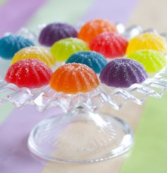 Homemade Gumdrop Recipe Makes A Super Sweet Holiday Gift! Gumdrop Recipe, Jelly Candy Recipe, Lollipop Recipe, Lollipop Candy, Party Candy, Candy Recipes, Dessert Recipes, Homemade Candies, Homemade Gummies