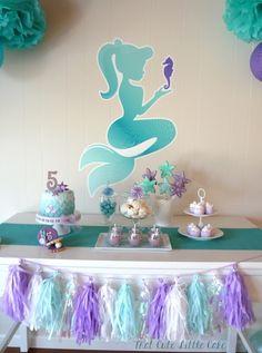 Pastel Mermaid themed birthday party via Kara's Party Ideas