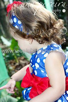 Detalhe do laço no vestido galinha pintadinha para crianças. Visite http://www.eroupasdebebe.com/vestido-galinha-pintadinha