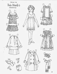 Fashions for Freda Friendly's Grandmother, Children's Friend magazine, Colouring Pages, Printable Coloring Pages, Coloring Books, Adult Coloring, Punch And Judy, Storybook Characters, Vintage Paper Dolls, Colored Paper, Printable Paper