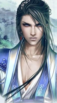 is a magic user of some kind. A magician, a wizard; probably elemental or water based magic.) - Asian Lord PortraitThis is a magic user of some kind. A magician, a wizard; probably elemental or water based magic. Fantasy Male, Fantasy Warrior, Art Anime, Manga Art, Manga Anime, Anime Male, Male Character, Violet Eyes, Anime Lindo