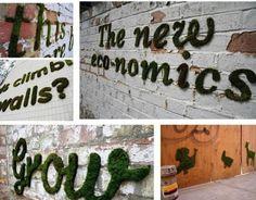 TO DIY OR NOT TO DIY: COMO FAZER GRAFFITIS DE MUSGO