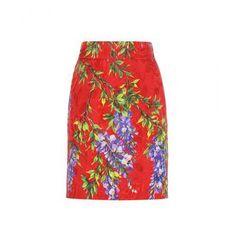 Dolce & Gabbana - Floral-printed brocade skirt #skirt #dolceandgabbana #stefanogabbana #women #designer #covetme #dolce&gabbana