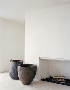 photographed by Douglas Friedman: love those large basket and pot