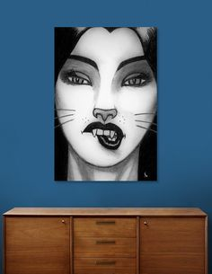 Discover «Kitten», Exclusive Edition Canvas Print by Ken Grey Bear - From $59 - Curioos