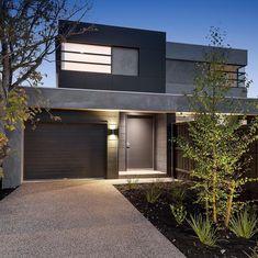 Dual Occupancy Home Builders Melbourne Townhouse Exterior, Modern Townhouse, Duplex House Design, Modern House Design, Modern Exterior, Exterior Design, Exterior Paint, Home Builders Melbourne, Double House