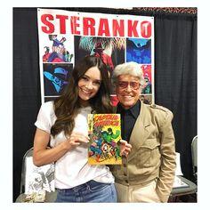 Mallory Jensen with the creatore of Madame Hydra Jim Steranko!