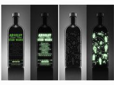 Vodka Absolut Star Wars Glow in the Dark Limited Edition