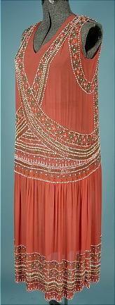 Coral & Beads Flapper Dress.