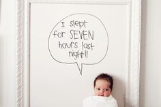 White board in a frame to capture baby's milestones