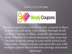 Simplycoupons.in   Best Place To Get Latest U0026 Free Discount Coupons,  Promotion Codes  Free Discount Vouchers