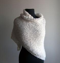 Hand Knit  Prayer Meditation Comfort Shawl Scarf by PeacefulPath, $62.00