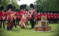 Nijmegen Company of the Grenadier Guards with their new colours presented by HM Queen Elizabeth II, June 2013.