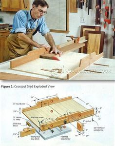Table Saw Crosscut Sled Plans - Table Saw Tips, Jigs and Fixtures | WoodArchivist.com