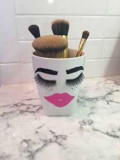 A personal favorite from my Etsy shop https://www.etsy.com/listing/271943644/kisseyelash-make-up-brush-holder