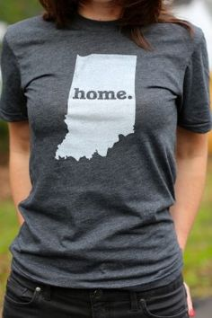 The Indiana Home T-shirt is a stylish way to show off your state pride, while also helping raise money for multiple sclerosis research. The shirt has a simple design, but its statement says so much. Show your state pride by purchasing a Home T today. Indiana Girl, Bourbon And Boots, Home T Shirts, What To Wear, Style Me, T Shirts For Women, Stylish, Tees, Skirts
