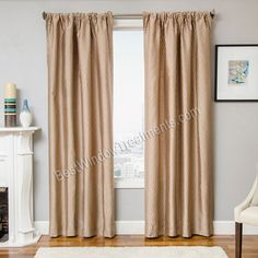 Palisade Wave Curtain Drapery Panels. Thin Tonal vertical stripe draperies