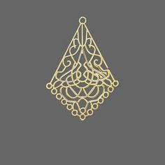 Drops and Pendants Lazer Lace Gold Plated/Finished