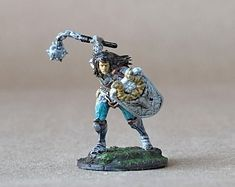 View DnD Character by ThePaintSmiths on Etsy Dungeons And Dragons Figurines, Dungeons And Dragons Miniatures, Warhammer Paint, Dragon Miniatures, Blue Magic, Dragon Figurines, Model Look, Dnd Characters, Paladin