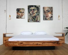 Custom Floating Bed - Recycled Timber Bed - YARD Furniture Melbourne Australia