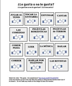 1000 images about spanish gustar verbs on pinterest spanish teaching spanish and tes. Black Bedroom Furniture Sets. Home Design Ideas