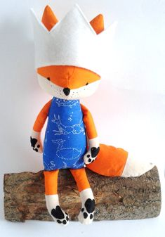 FREJ the fox. made-to-order. gift for children. eco toy. by LESNE