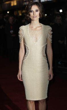 keira knightley, chanel pearl dress