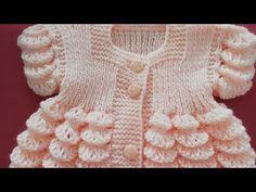 Mandalına Dilimli Bebek yeleği/Bebek Elbisesi - YouTube Crochet Crafts, Crochet Dolls, Crochet Baby, Baby Patterns, Knitting Patterns, How To Purl Knit, Baby Sweaters, Baby Dress, Embroidery Designs