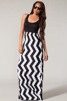 Uptown Chevron Maxi Dress - Also in Plus Size | Fashonista ...