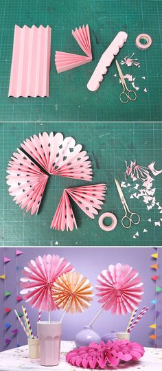 Folding rosettes for the horse party