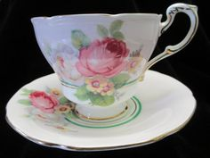 Stunning Pink Paragon Cup and Saucer with Rose by Cupsofthepast, $30.00