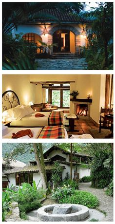 The Machu Picchu Pueblo is a gorgeous hotel surrounded by cool cloud forest. A perfect spot to start your trip up to the Machu Picchu Citadel. Then enjoy a relaxing massage and a peaceful meal overlooking the river, afterwards.  http://www.latinexcursions.com/machu-picchu-pueblo/