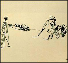Carybé. Bico de pena 2, 1950, Museu de Arte da Bahia