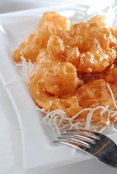 Delightfully crunchy shrimp dipped in a mayo and Thai sauce with a hint of hot pepper sauce creates a shrimp with a tantalizing sweet heat t...