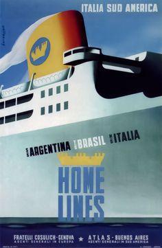 Dario Bernazzoli: manifesti e transatlantici   Italian Ways