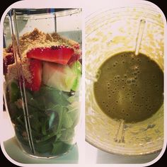 dinner. Spinach, green apple, strawberries, flax & water. #nutribullet #magicbullet #juicing #nutriblast