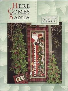 art to heart here comes santa - rosotali roso - Picasa Web Album Angels Among Us, Christmas Books, Christmas Crafts, Christmas Ideas, Web Gallery, Applique Design, Painted Books, Book Quilt, Tole Painting