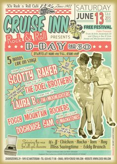 Cruise Inn Saturday June 13. Free!