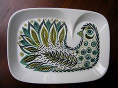 Figgjo tv or breakfast set plate with bird. Found it in Amsterdam in April 2012, but sold it again in June. I don't exactly know what I was thinking there.