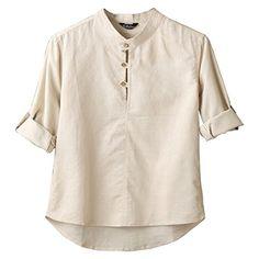 Partiss Mens 3/4 Sleeve Breatherable Shirt