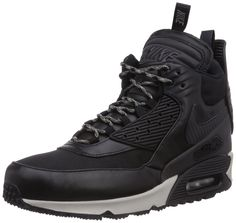 new style a4416 25c2a Nike Men s Air Max 90 Sneakerboot Wntr Black Black Black Magnet Grey Boot  9.5 Men US