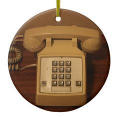 Vintages Retro Telefon Weihnachtsbaum Ornament