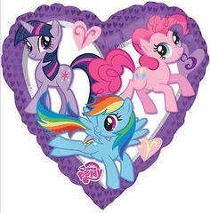My Little Pony Heart Foil Helium Balloon. My Little Pony Heart Foil Balloon. A must have for any My Little Pony party. My Little Pony Party, My Little Pony Balloons, My Little Pony Fotos, Fiesta Little Pony, Cumple My Little Pony, Imagenes My Little Pony, Round Balloons, Heart Balloons, Helium Balloons