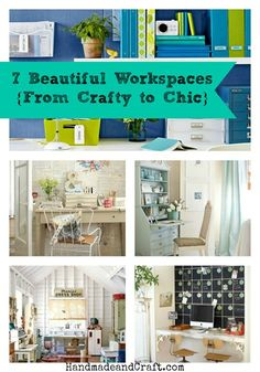 7 Beautiful Workspaces {From Crafty to Chic} @HandmadeandCraft